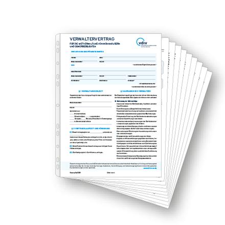 Verwaltervertrag für die Mietverwaltung von Wohnhäusern und Gewerbeobjekten vdiv0004